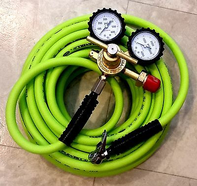 [25-ft hose] Nitrogen Regulator Kit - Aviation On-Site In-Hangar tire inflation