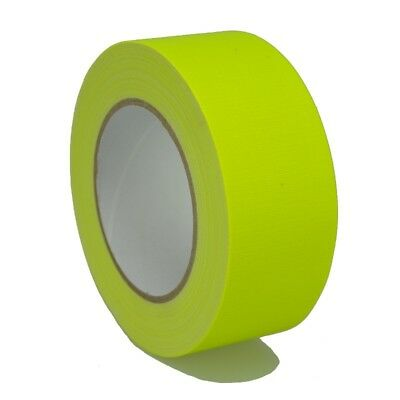Marking Tape 649-50GE 50mm x 25m Gaffer Tape Neon Yellow Matte Tape Marker