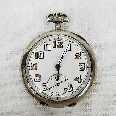 ANTIQUE FRENCH STERLING SILVER ANCRE 15 RUBIS POCKET WATCH FOR TIFFANY & Co.