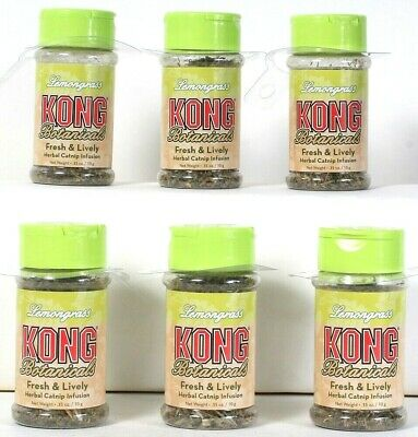 6 Count Kong Botanicals 0.35 Oz Lemongrass Fresh & Lively Herbal Catnip Infusion