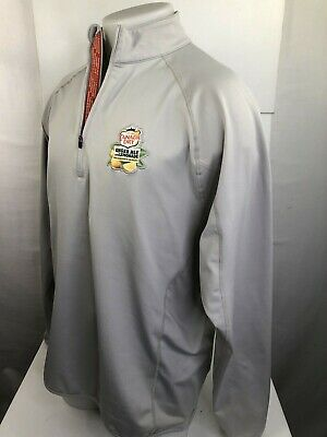 CANADA DRY Ginger Ale and Lemonade Embroidered Gray M/L Pullover Jacket Shirt