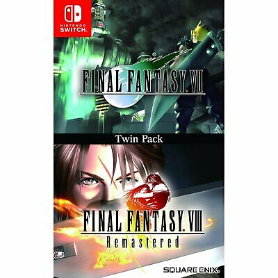 Final Fantasy VII 7 & Final Fantasy VIII 8 Remastered Twin Pack For Switch NS