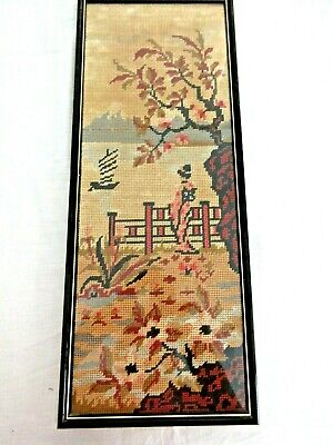 Craft Hand Made Tapestry Geisha Lady Completed & Framed