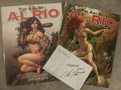 The Art Of Al Rio Volume One & Volume Two lot with SIGNATURE!    SQP Productions