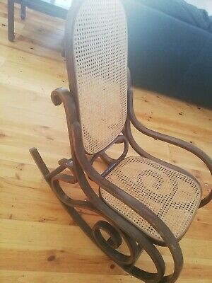 Rocking chair wooden vintage style