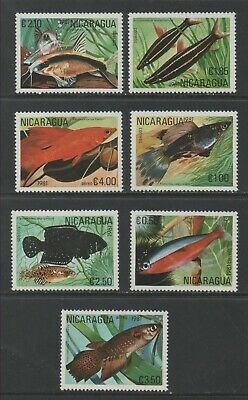 Thematic Stamps Animals - NICARAGUA 1981 TROPICAL FISH 2296/02  7v mint