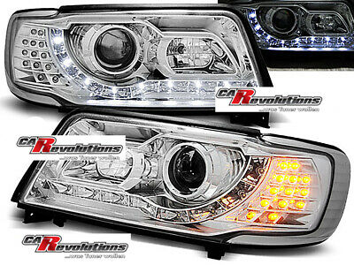 AUDI 100 4C - Led Scheinwerfer in chrom