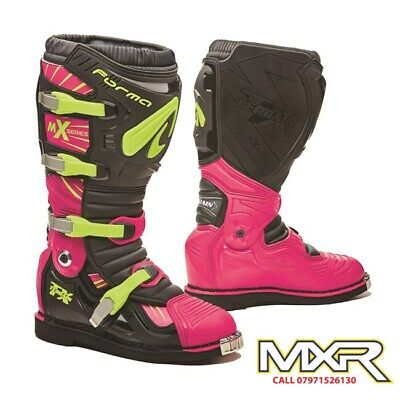 Forma Terrain Tx 2.0 Motocross Boot Black / Fuchsia / Fluo Yellow