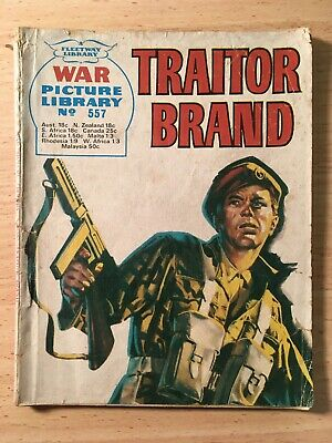 """Fleetway War Picture Library Comic # 557 From 1969. """"Traitor Brand"""""""