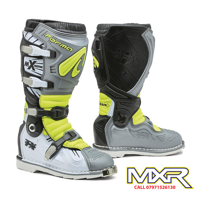 Forma Terrain Tx 2.0 Motocross Boot Grey / White / Fluo Yellow