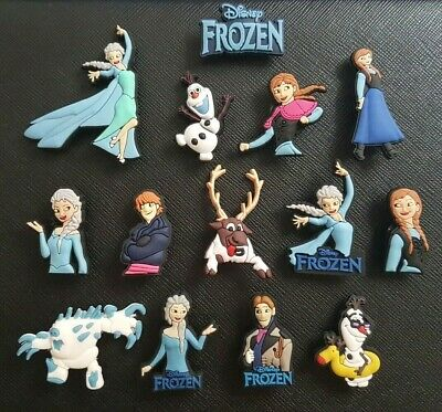 14 x Disney Frozen Shoe Charms PVC Rubber Holey Clogs shoes Charm Elsa Anna