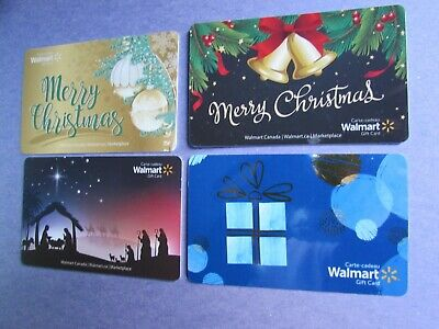 2019 Walmart Canada Merry Christmas Manger Gift Cards No Value 4 Cards Mint