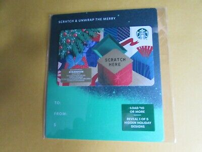 New 2019 Scratch and Unwrap  the Merry Starbucks Gift Card Canada No Value