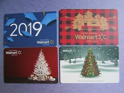 2019 Walmart Canada Christmas Tree Gift Cards No Value 4 Cards
