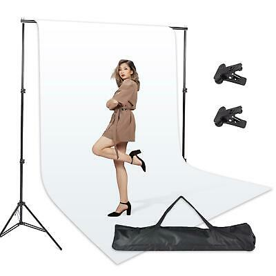 Backdrop Studio Kit Background Photo Support Stand Set White Photography Screen