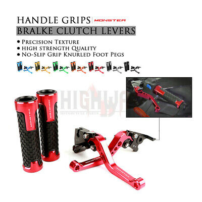 Handle Grips Brake & Clutch Levers Fit DUCATI Monster 400 620 695 696 796 S2R