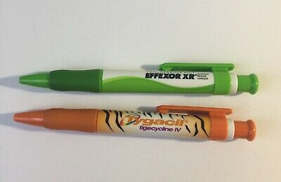 RARE~ EFFEXOR XR  ~ TYGACIL Pharmaceutical Drug Rep Pens~ Collectible