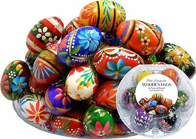 Polish Easter Handpainted Wooden Eggs (Pisanki) in Protective Box