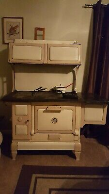 Antique enamel cook stove