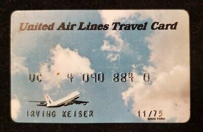 United Airlines Travel Card credit card expired 1975♡Free Shipping♡cc557