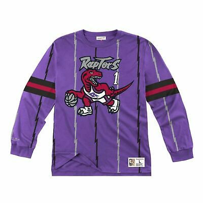 Mens Mitchell & Ness NBA Long Sleeve Toronto Raptors 98 Tracy McGrady