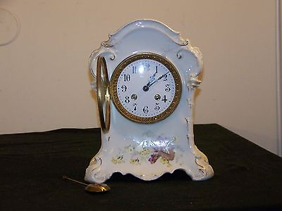 KPM- AD.Mougin- Porcelain Antique French/German Hand Painted Clock
