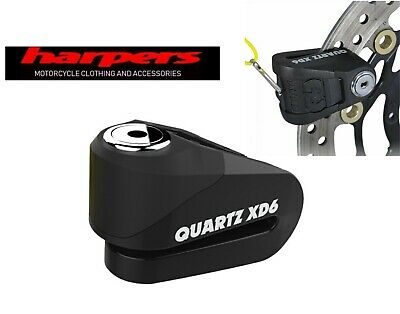 Oxford Quartz XD6 Motorcycle Disc Lock Black - UK DEALER