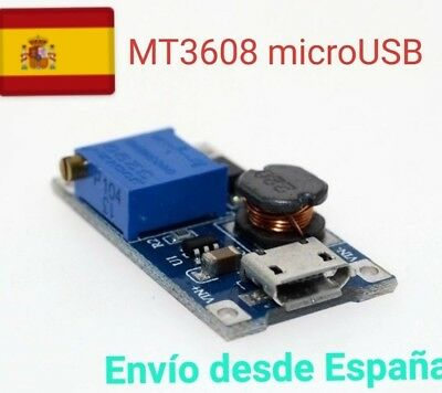 MT3608 2A Booster DC-DC Step-up 2/24V to 5/9/12/28V Micro USB  Replace XL6009