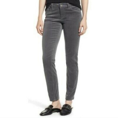 Kut From The Kloth Diana Skinny Corduroy Pants womens size 6 ankle gray nordstro