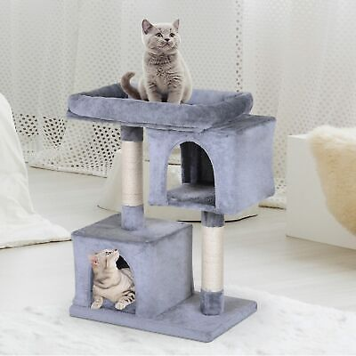 Multi-Level Cat Tree Condo Furniture with Sisal-Covered Scratching Posts Large