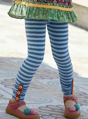 Matilda Jane Moments With You Blue Striped Sightseeing Leggings Tween size 12