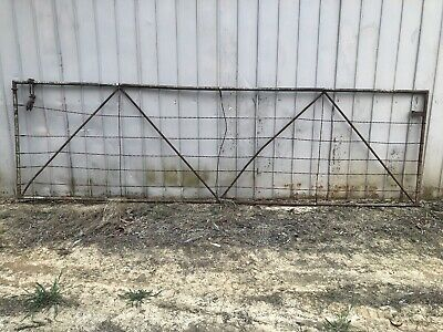 Antique Rustic Farm Gate Steel Twisted Wire 4.2m X 1.2m