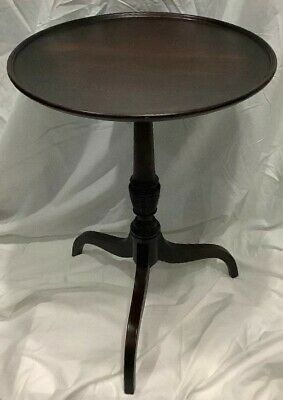 Vintage 1940's Solid Mahogany Round Tilt Top Occassion Table