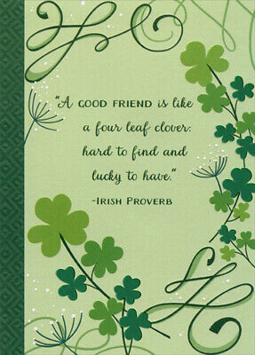 Patrick/'s Day Note Cards Rustic Clover 24 St Green Envs