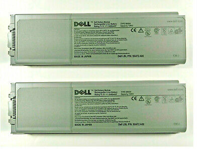 LOT of 2 Rechargeable Li-ion Battery Pack for DELL TYPE 8N544 MADE in JAPAN