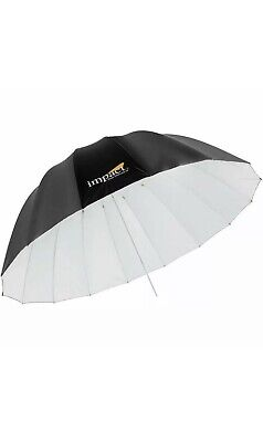 "2 Impact 65"" Deep Umbrella White w/diffusion sock."