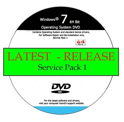 LATEST WINDOWS 7 - 64 Bit Home & PRO Repair / Recover / Re-Install DVD 2020