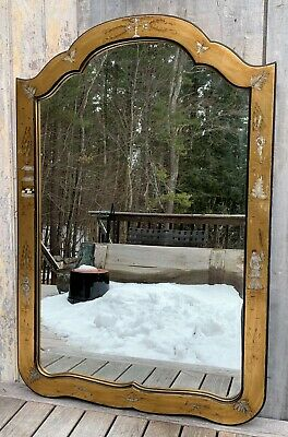 Vintage Friedman Brothers Gold Gilt Chinoiserie Queen Anne Mirror 1960