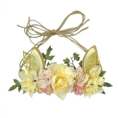 Easter Holiday Bunny Rabbit Floral Baby Girls Headband - (Style 8)