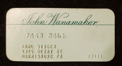 John Wanamaker charge card ♡Free Shipping♡cc598♡ Princess Size