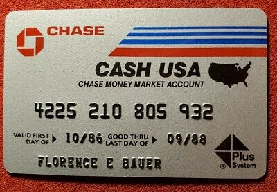 Chase Cash USA exp 1990♡Free Shipping♡cc623♡