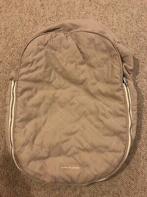 JJ Cole Collections Infant Car Seat Cover Quilted Zipper Protection Baby Fleece