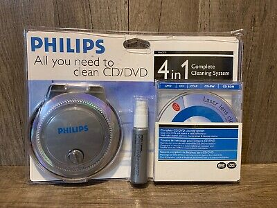 PHILIPS  PH62030 4 In 1 CD/DVD Cleaning System New