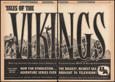 Tales of the VIKINGS Ad-Trix 1960 Sepia Vending machine Cards UNITED ARTISTS TV
