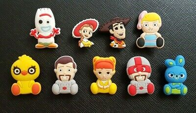 9 x Toy Story 4 Forky Shoe Charms PVC Rubber Holey Clogs shoes charm Sporky