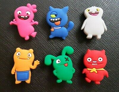 6 x Ugly Dolls Shoe Charms PVC Rubber Holey Clogs shoes charm