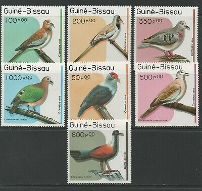 Thematic Stamps Animals - GUINEA BISSAU 1989 BIRDS 1096/02  7v mint