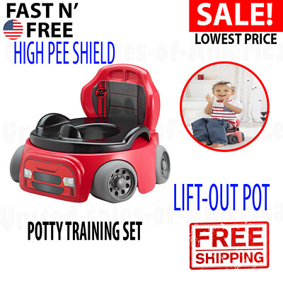 Baby Potty Training Seat Training Wheels Racer Chair Kids Toddler Child Boys New