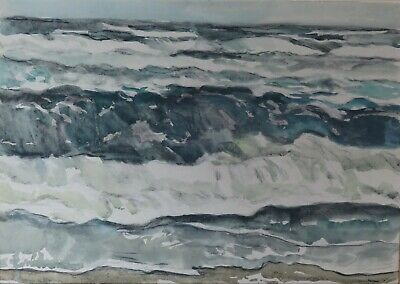 Gemälde Aquarell Expressionismus Paul Mechlen Nordsee