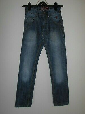 NEXT boys jeans aged 9 134 cm Blue Denim adjustable waist logo cotton Blend